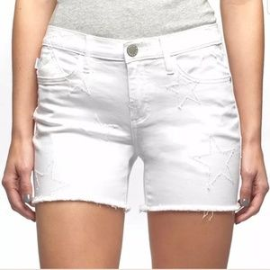 Rock & Republic Hula White Star Shorts 12